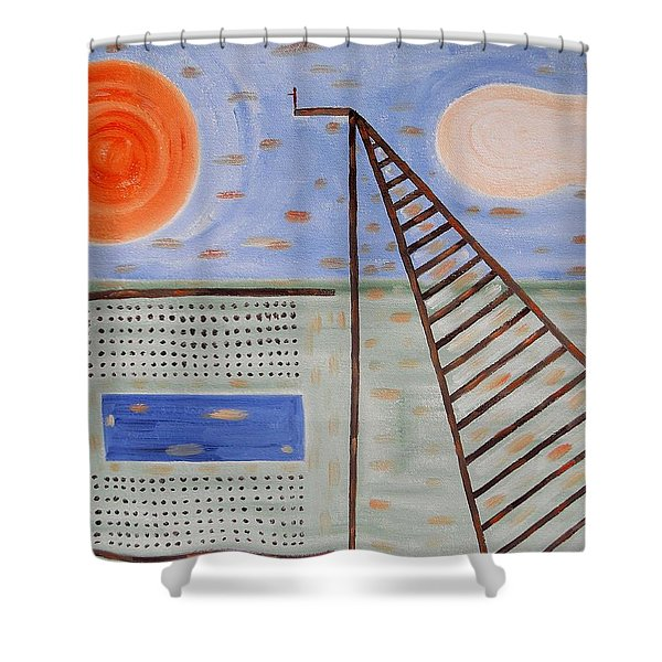 High Dive Shower Curtain by Patrick J Murphy