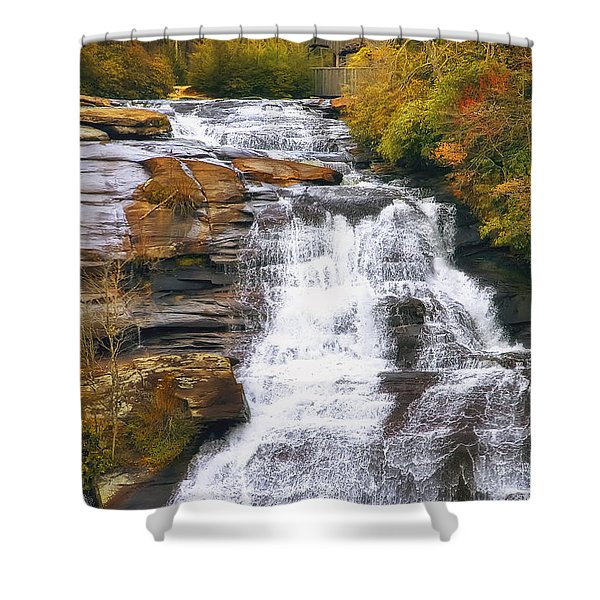 High Falls Shower Curtain by Scott Norris