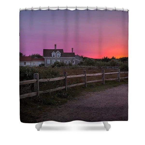 Highland Light Shower Curtain by Bill  Wakeley