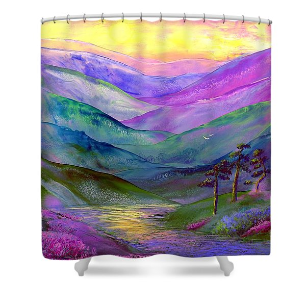 Highland Light Shower Curtain by Jane Small