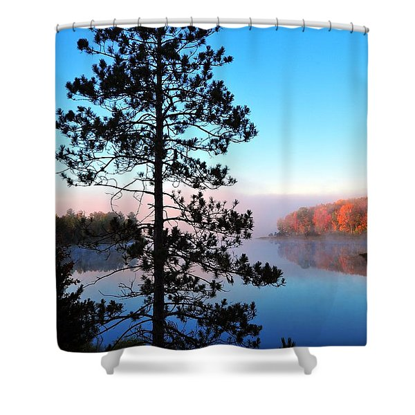 Hilltop View of Stoneledge Lake Shower Curtain by Terri Gostola