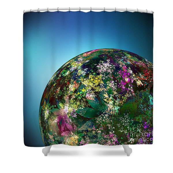 Hippies' Planet 2 Shower Curtain by Klara Acel