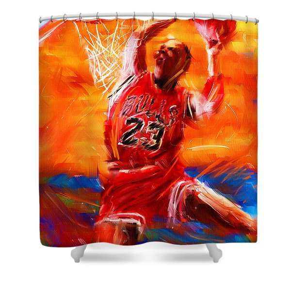 His Airness Shower Curtain by Lourry Legarde