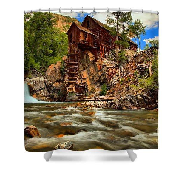 Historic Colorado Landscape Shower Curtain by Adam Jewell