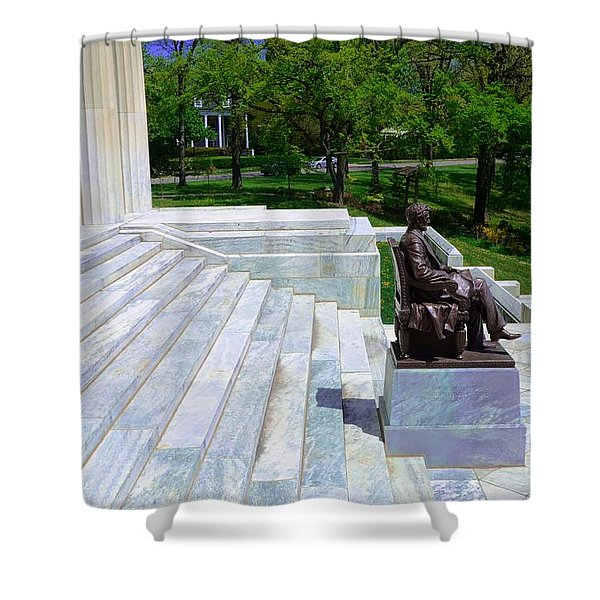 Historical Museum Building Of Buffalo Shower Curtain by Kathleen Struckle
