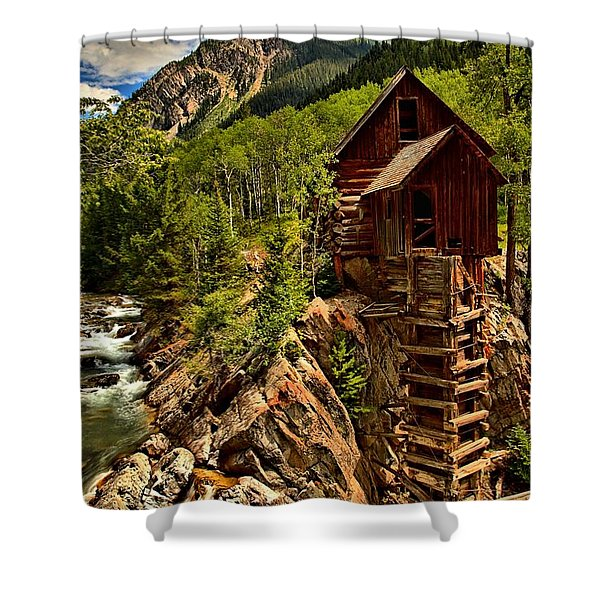 History In Crystal Shower Curtain by Adam Jewell
