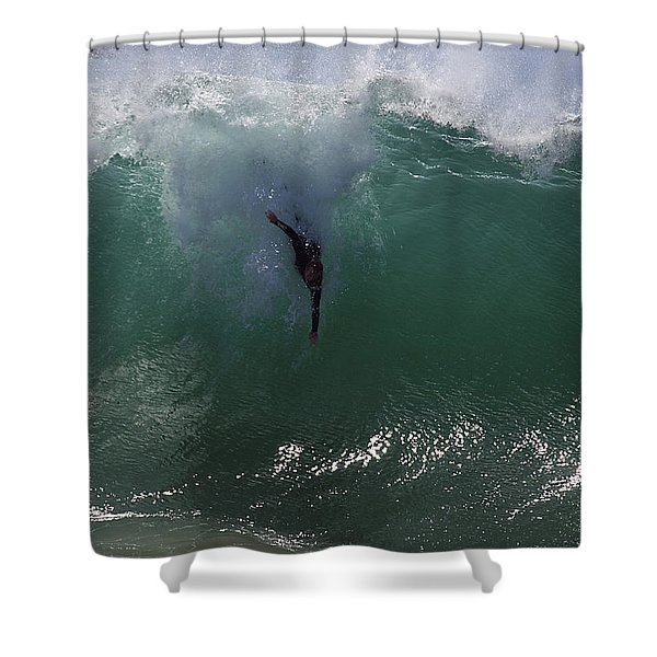 Hold Your Breath Shower Curtain by Joe Schofield