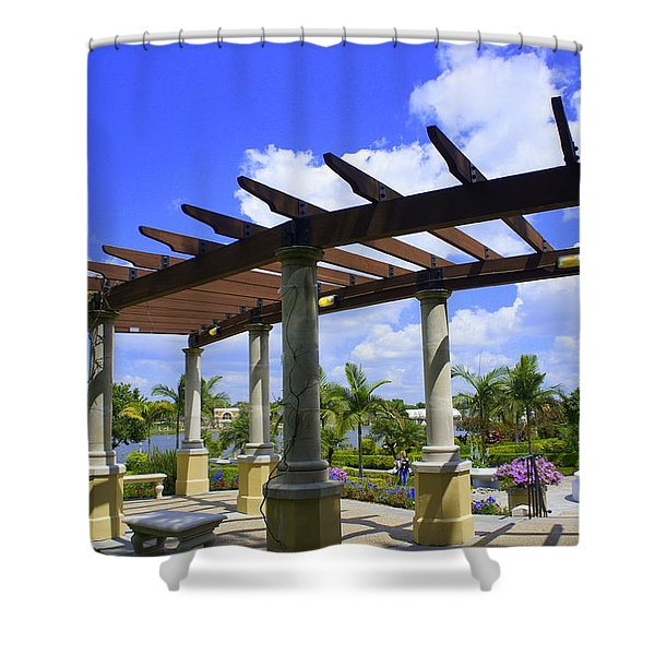 Hollis Pergola Shower Curtain by Laurie Perry