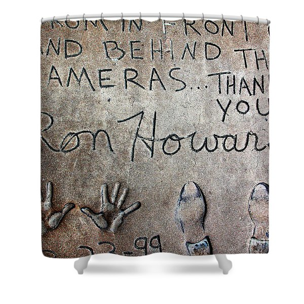 Hollywood Chinese Theatre Ron Howard 5d29035 Shower Curtain by Wingsdomain Art and Photography