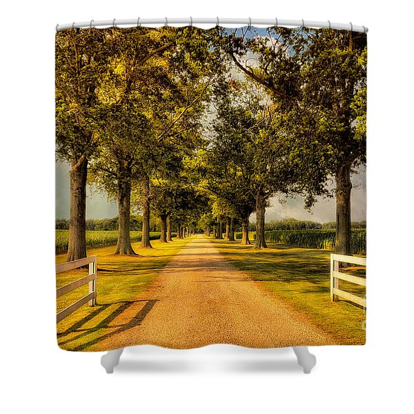 Home In Time For Supper Shower Curtain by Lois Bryan