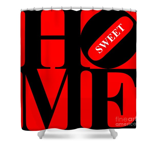 Home Sweet Home 20130713 Black Red White Shower Curtain by Wingsdomain Art and Photography