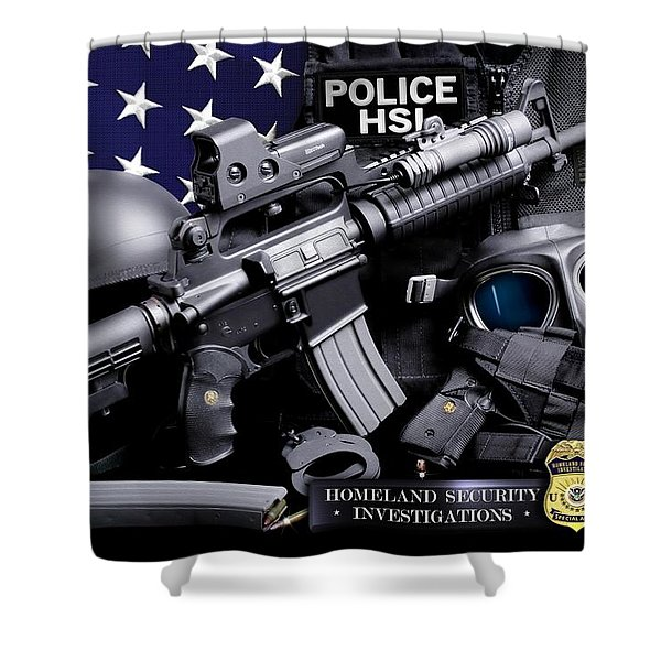 Homeland Security 1 Shower Curtain by Gary Yost