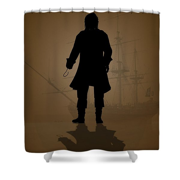 Hook Shower Curtain by Bob Orsillo