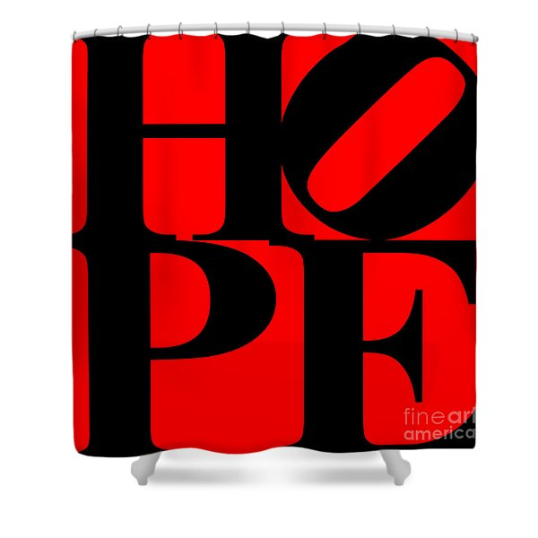 Hope 20130710 Black Red Shower Curtain by Wingsdomain Art and Photography