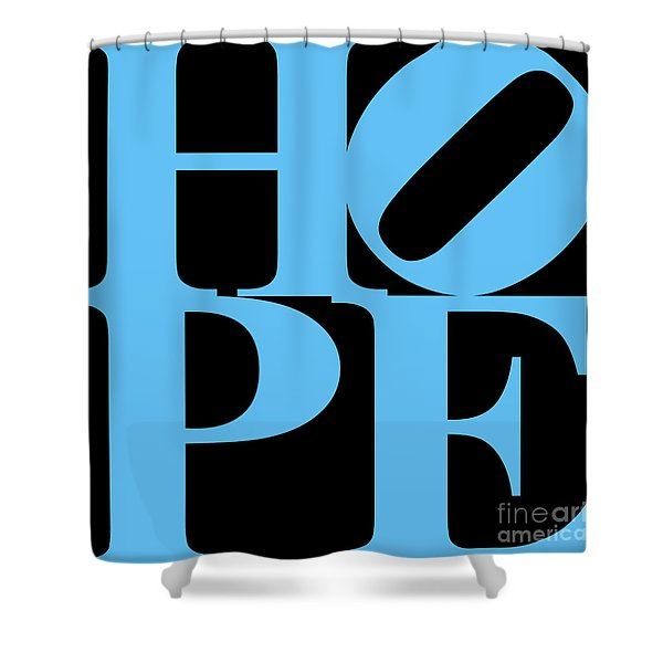 Hope 20130710 Blue Black Shower Curtain by Wingsdomain Art and Photography