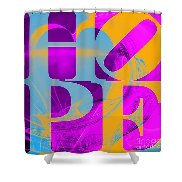Hope Fractal Heart 20130710 V1 Shower Curtain by Wingsdomain Art and Photography