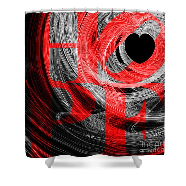 Hope Fractal Heart 20130710 V2b Shower Curtain by Wingsdomain Art and Photography