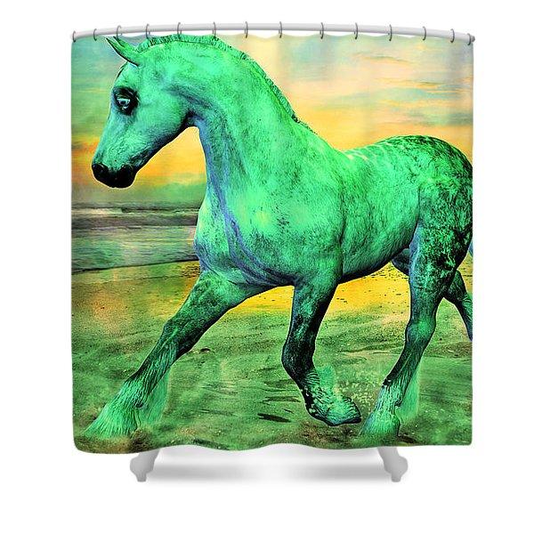 Horizon Shower Curtain by Betsy C  Knapp