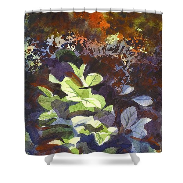 Hostas In The Forest Shower Curtain by Kip DeVore
