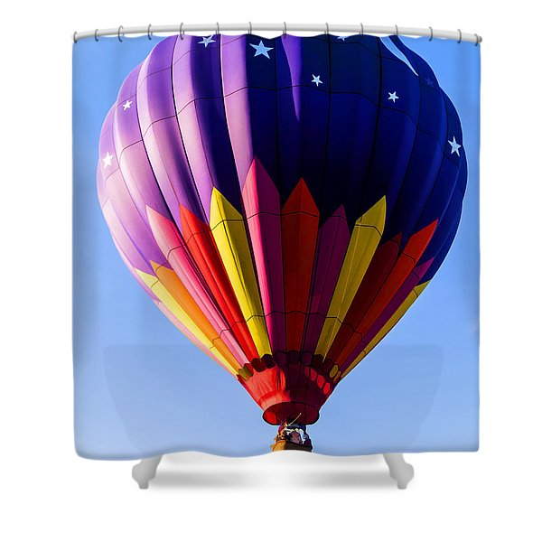 Hot Air Ballooning in Vermont Shower Curtain by Edward Fielding