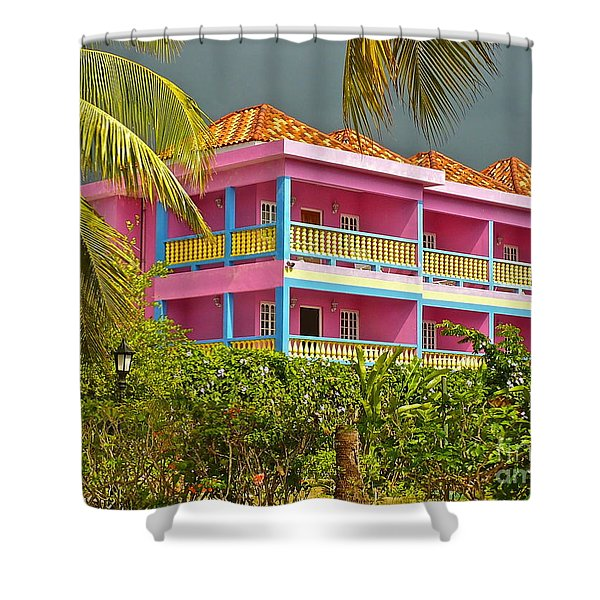 Hotel Jamaica Shower Curtain by Linda Bianic