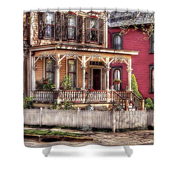 House - Country Victorian Shower Curtain by Mike Savad