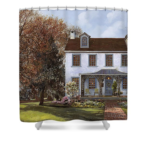 house Du Portail  Shower Curtain by Guido Borelli