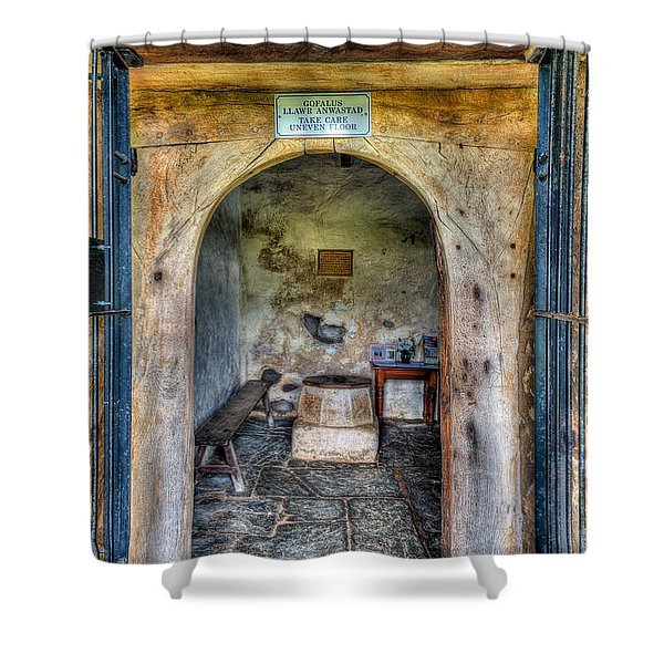 House of God Shower Curtain by Adrian Evans