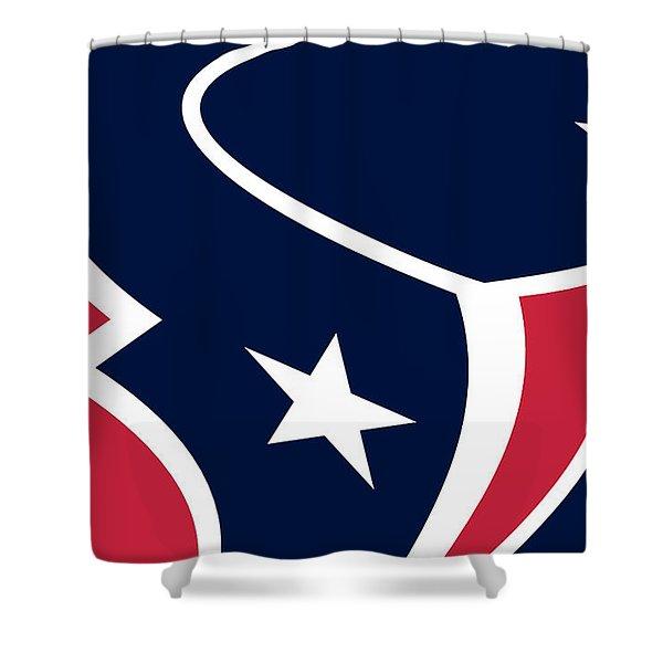 Houston Texans Shower Curtain by Tony Rubino