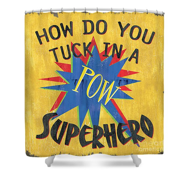 How Do You Tuck... Shower Curtain by Debbie DeWitt
