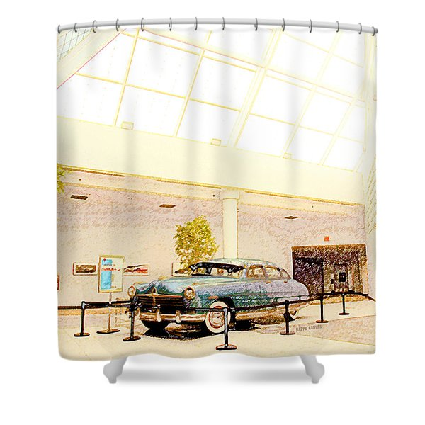 Hudson Car Under Skylight Shower Curtain by Design Turnpike