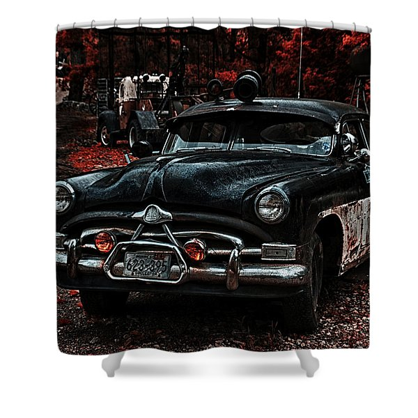 Hudson Trooper Cruzer Shower Curtain by Todd and candice Dailey