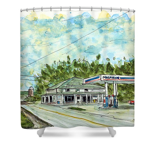Huff's Market Shower Curtain by Tim Ross