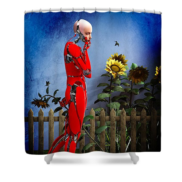 Hummingbirds Shower Curtain by Bob Orsillo