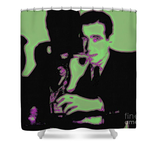 Humphrey Bogart and The Maltese Falcon 20130323 Shower Curtain by Wingsdomain Art and Photography