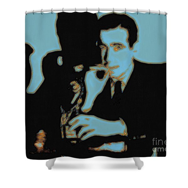 Humphrey Bogart and The Maltese Falcon 20130323p88 Shower Curtain by Wingsdomain Art and Photography