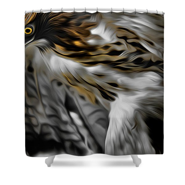 I Am Redtail Shower Curtain by Bill  Wakeley