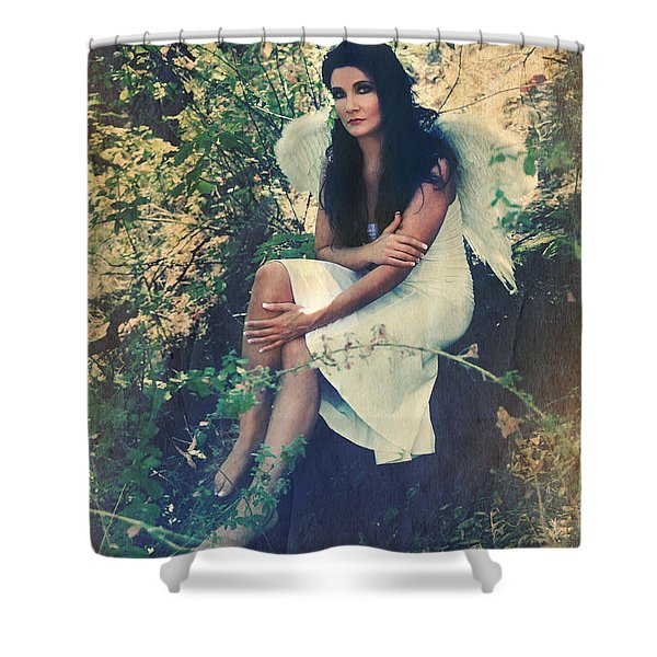 I Believe in Angels Shower Curtain by Laurie Search