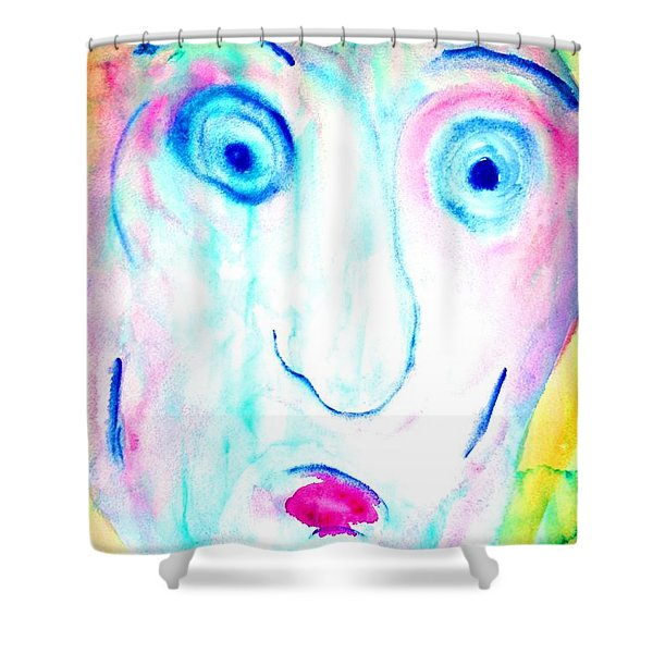 I didnt do it  Shower Curtain by Hilde Widerberg