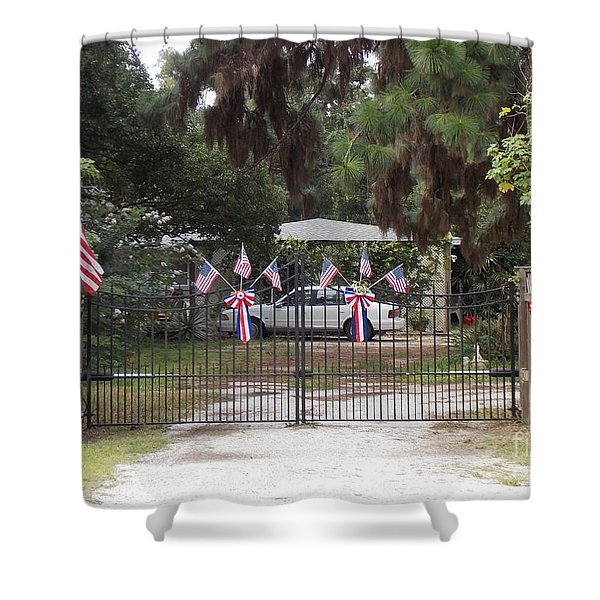 I Love The USA  Shower Curtain by To-Tam Gerwe