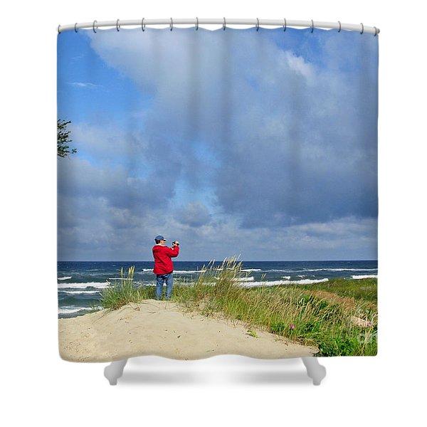 I See The Sea. Juodkrante. Lithuania Shower Curtain by Ausra Paulauskaite