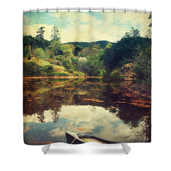 I Tried To Get To You Shower Curtain by Laurie Search