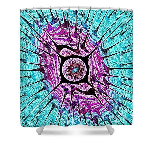Ice Dragon Eye Shower Curtain by Anastasiya Malakhova