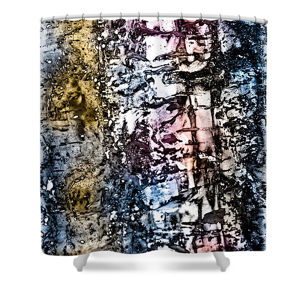 Ice Number Five Shower Curtain by Bob Orsillo