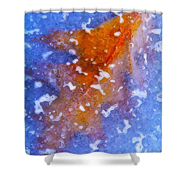 Icebound Leaf Shower Curtain by Bill Caldwell -        ABeautifulSky Photography