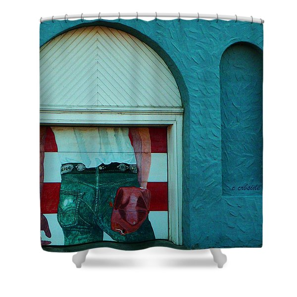Iconic Urban Mural Shower Curtain by Chris Berry