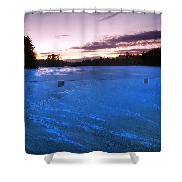 Icy Sunset Shower Curtain by Joann Vitali