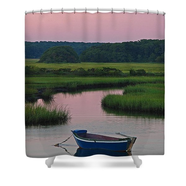 Idyllic Cape Cod Shower Curtain by Juergen Roth