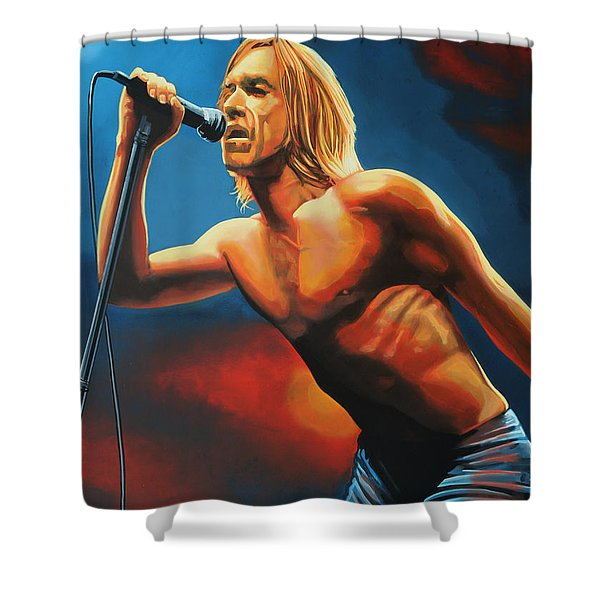Iggy Pop Shower Curtain by Paul  Meijering