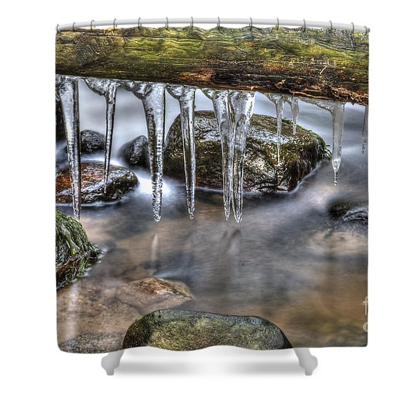 IIcicles Time Shower Curtain by Veikko Suikkanen